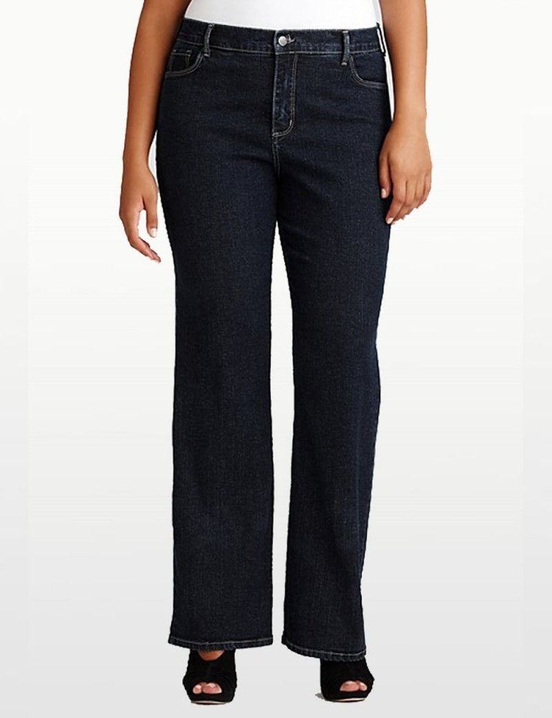 NYDJ - Barbara Bootcut Jeans in Blue Black Denim - Plus *W47232