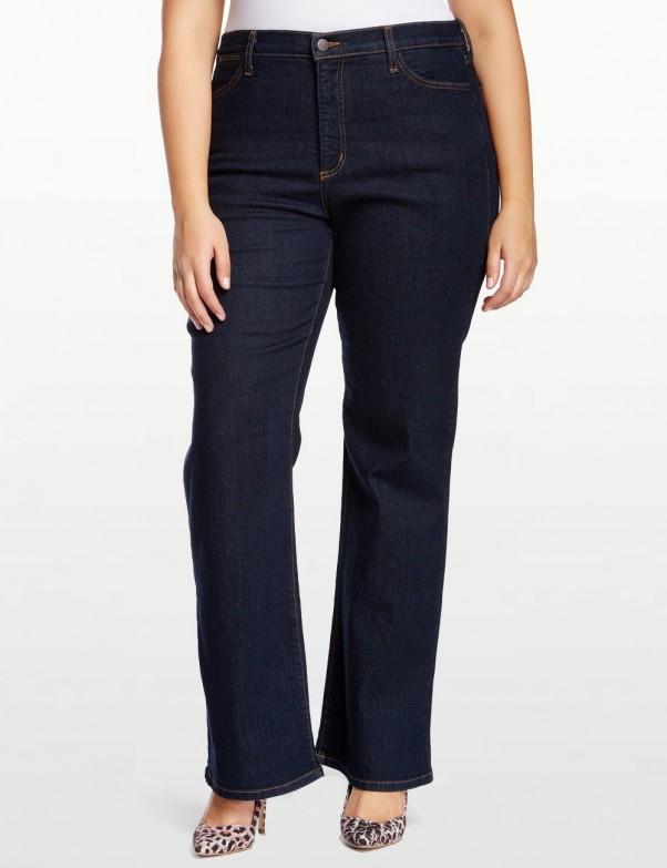 NYDJ - Sarah Classic Bootcut Jeans in Blue Black ( Plus ) *W700 - W700T