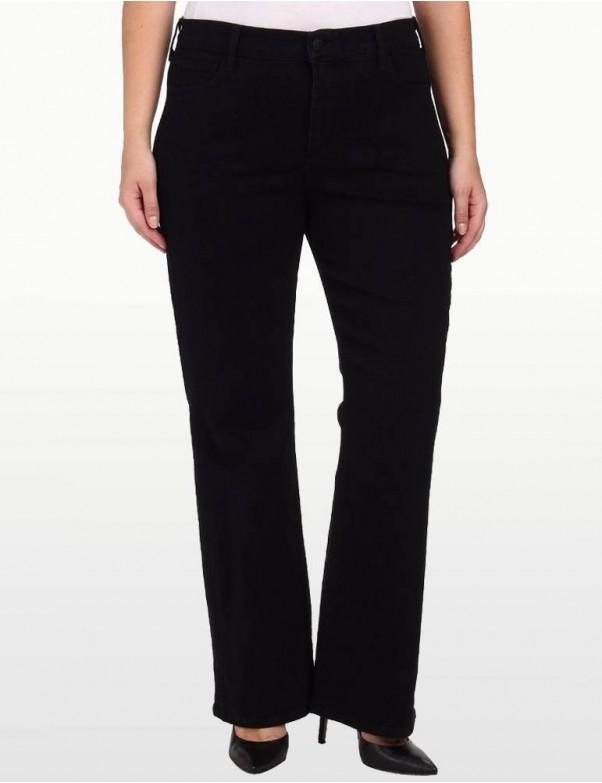 NYDJ - Sarah Classic Bootcut Jeans in Black ( Plus )*W400B