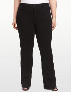 NYDJ - Hayden Bootcut Jeans in Black Denim - Plus *W4032B