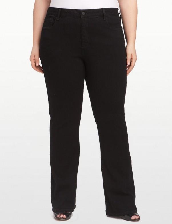 NYDJ - Hayden Bootcut Jeans in Black Denim - Plus *W4032B