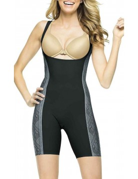 Assets by Spanx - Luxe Lean Open-Bust Mid-Thigh Bodysuit *2543