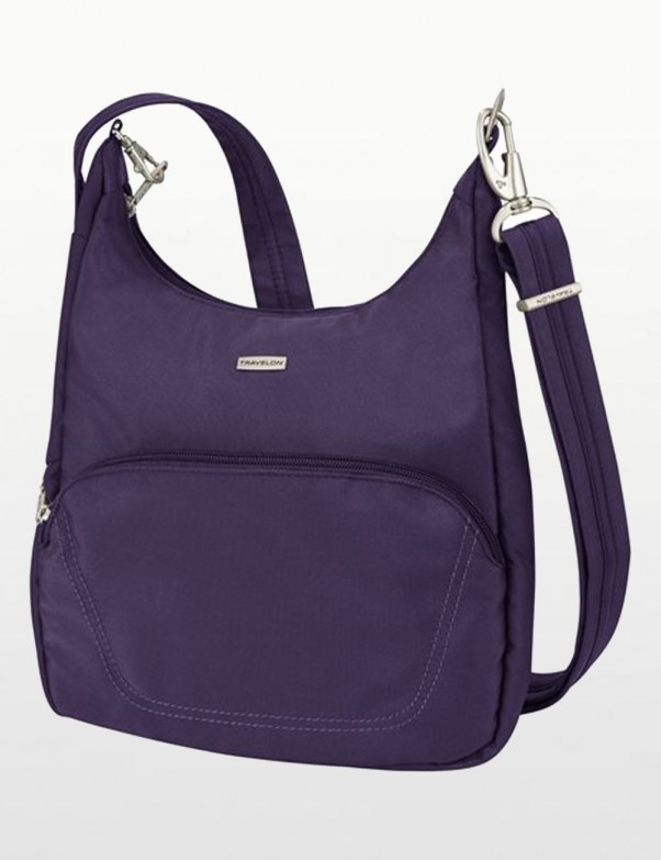 Travelon - Anti-Theft Classic Essential Messenger Bag in Eggplant