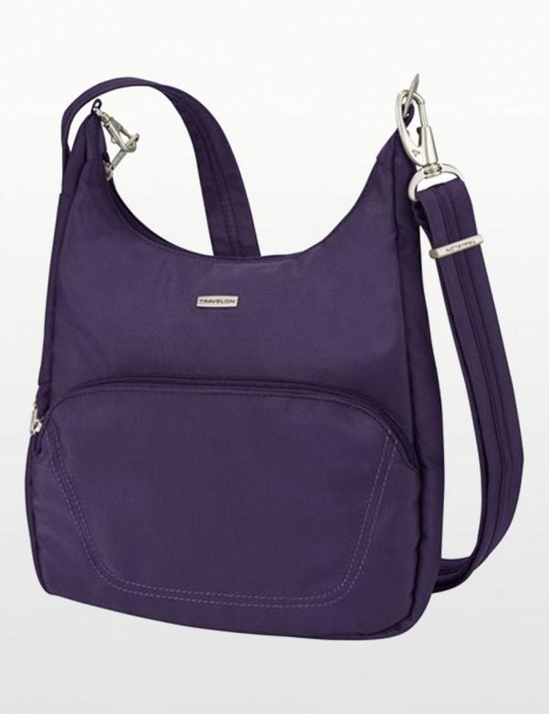 Travelon - Anti-Theft Classic Essential Messenger Bag in Eggplant