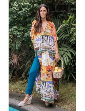 Antico Sartoria - Riomaggiore Long Kaftan Dress