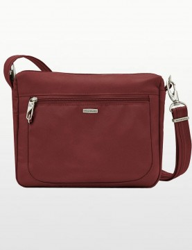 Travelon - Anti-Theft Classic Crossbody Bag in Wine