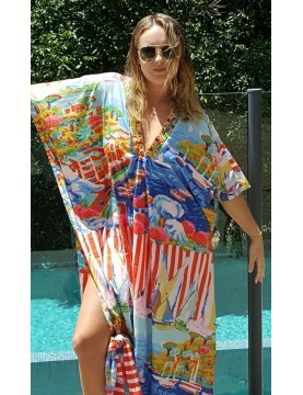 Antico Sartoria - Monterosso Long Kaftan Dress