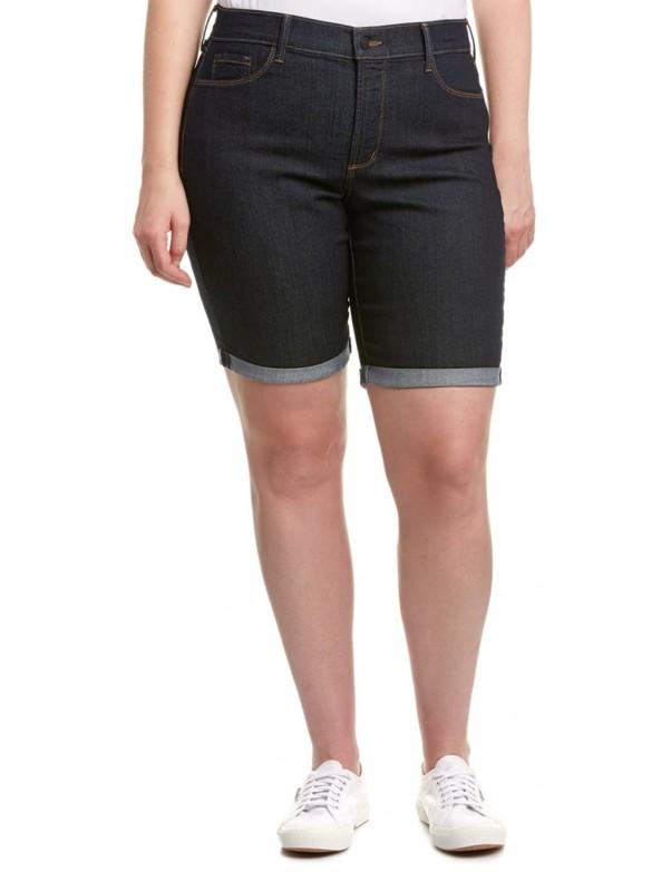 NYDJ - Briella Cuffed Shorts in Dark Wash Plus Size *M10