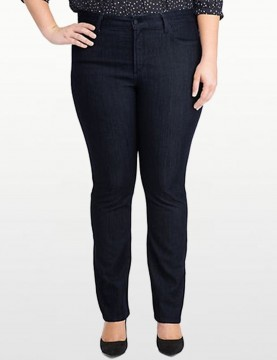 NYDJ - Marilyn Straight Leg Jeans in Dark Wash - Plus *W10K43T4338