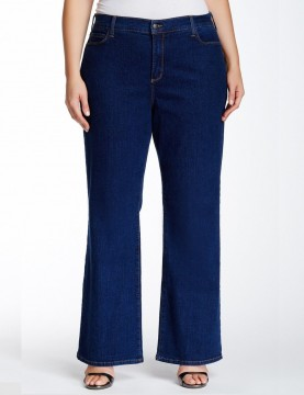 NYDJ - Sarah Classic Bootcut Jeans in Black or Blue - Plus *W400B - W400D