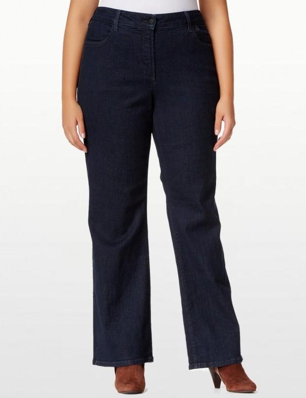 NYDJ - Sarah Blue Black Denim Bootcut Jeans  *W700T