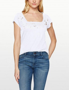 NYDJ - Linen Floral Cut out T Shirt *MJER3516