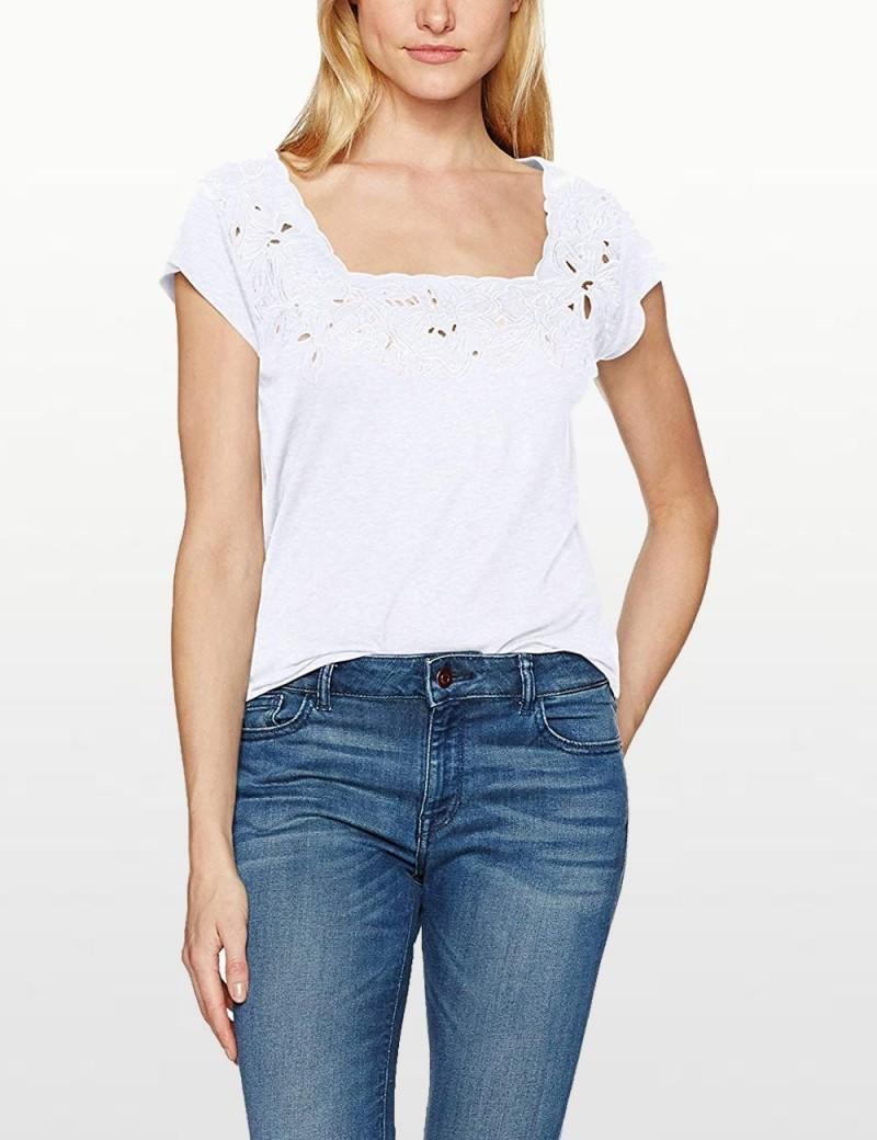 NYDJ - Linen Floral Cut out T Shirt *MJER3516