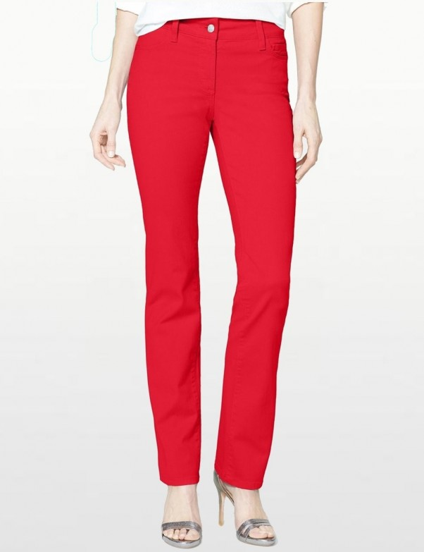 NYDJ - Marilyn Straight Leg Jeans in Red Twill *30227DT3050
