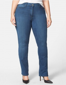 NYDJ - Hayley Straight Leg Jeans in Valencia Wash - Plus *W44K43VC4449