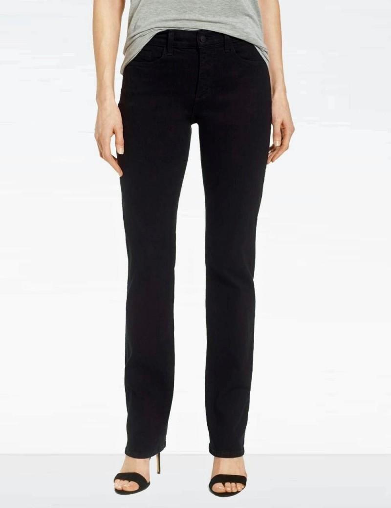 NYDJ - Marilyn Straight Leg Jeans in Black ( Tall ) *431BLG - 40594DTL