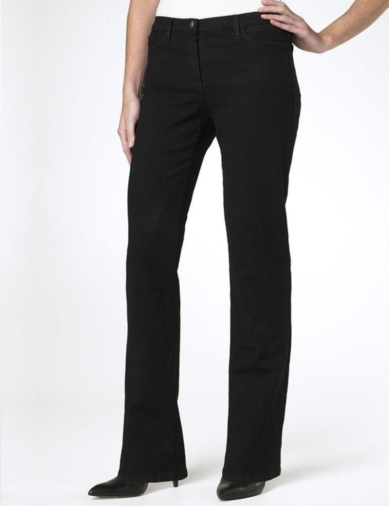 NYDJ - Sarah Classic Bootcut Jeans in Black ( Petites )*P400B