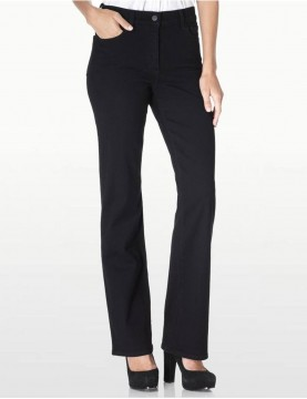 NYDJ Style 400B - Sarah Black Bootcut Jeans