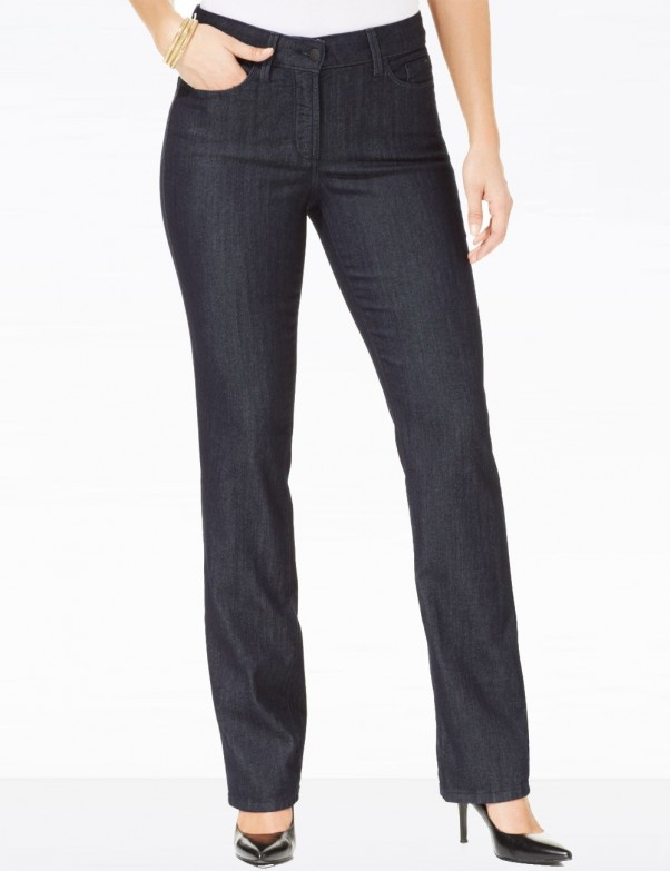 NYDJ - Marilyn Jeans in Dark Wash with Embellishments ( Petites ) *P10227T3310