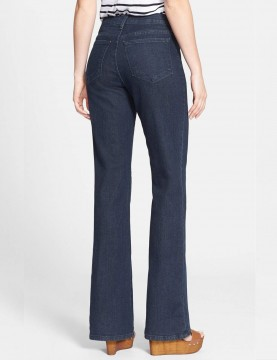 NYDJ - Sarah Classic Bootcut Jeans in Blue Black with Tonal Stitching ( Tall ) *700TLG