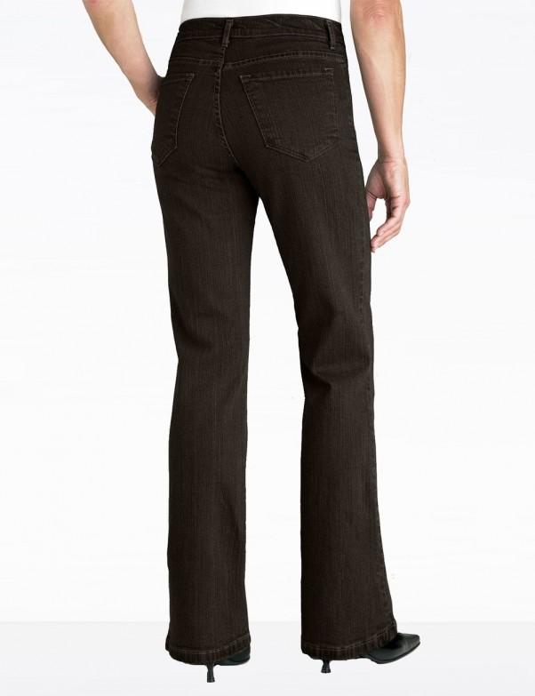NYDJ - Sarah Classic Bootcut Jeans in Brown Denim - 400B