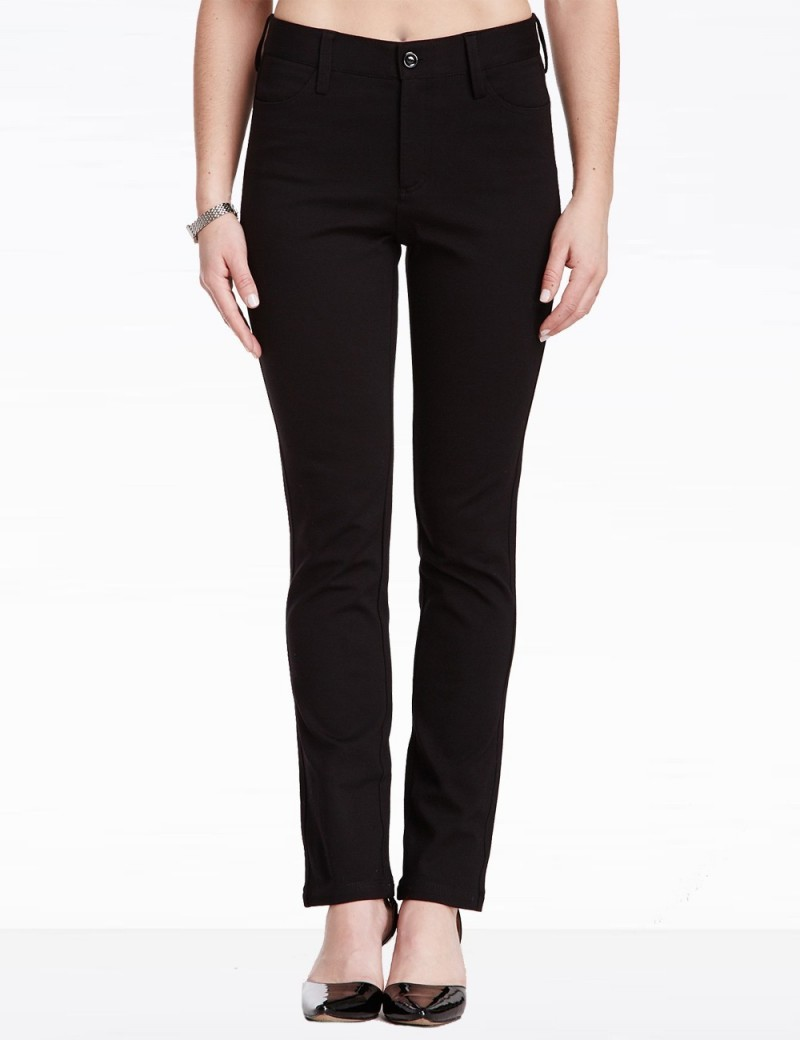 NYDJ - Straight Leg Ponte Knit Pants - Black *11531