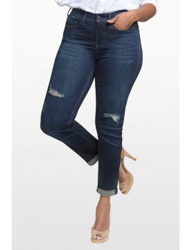 NYDJ - Curves 360 Slim Straight Leg with Roll Hem in Tempest *CFSD2366