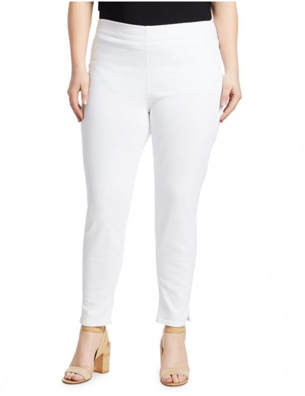 NYDJ - Skinny Ankle Pull-On Jeans in White *MFOZPA2570