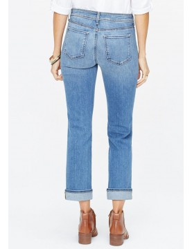 NYDJ - Marilyn Straight Leg Cuffed Ankle Jeans In Rhodes *MDNMMA2605