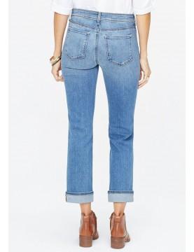 NYDJ - Marilyn Straight Leg Cuffed Ankle Jeans In Rhodes *MDNMMA2605