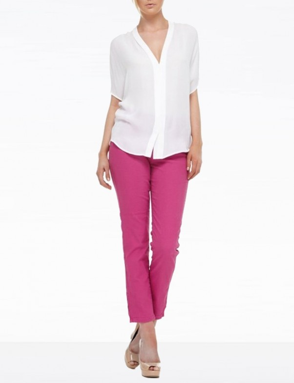 NYDJ - Alisha Colored Ankle Pants in Fuschia  *32610