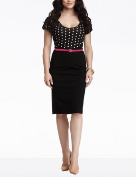 NYDJ - Black Ponte Knit Pencil Skirt *11416