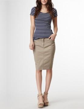 NYDJ - Mushroom Chino Skirt *52271
