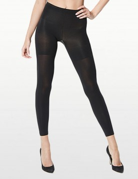 Red Hot Spanx - Black Footless Shaping Tights -*20069R