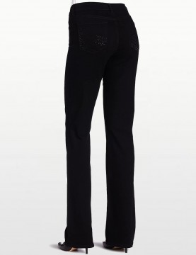 NYDJ - Barbara Bootcut Jeans in Black with Embellished Pockets...