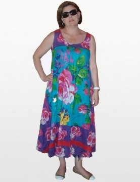 Antica Sartoria - Floral Cotton Sleeveless Dress