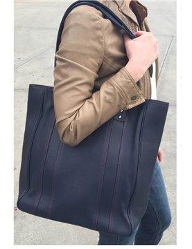 Hadaki - City Tote Bag in Navy Leather